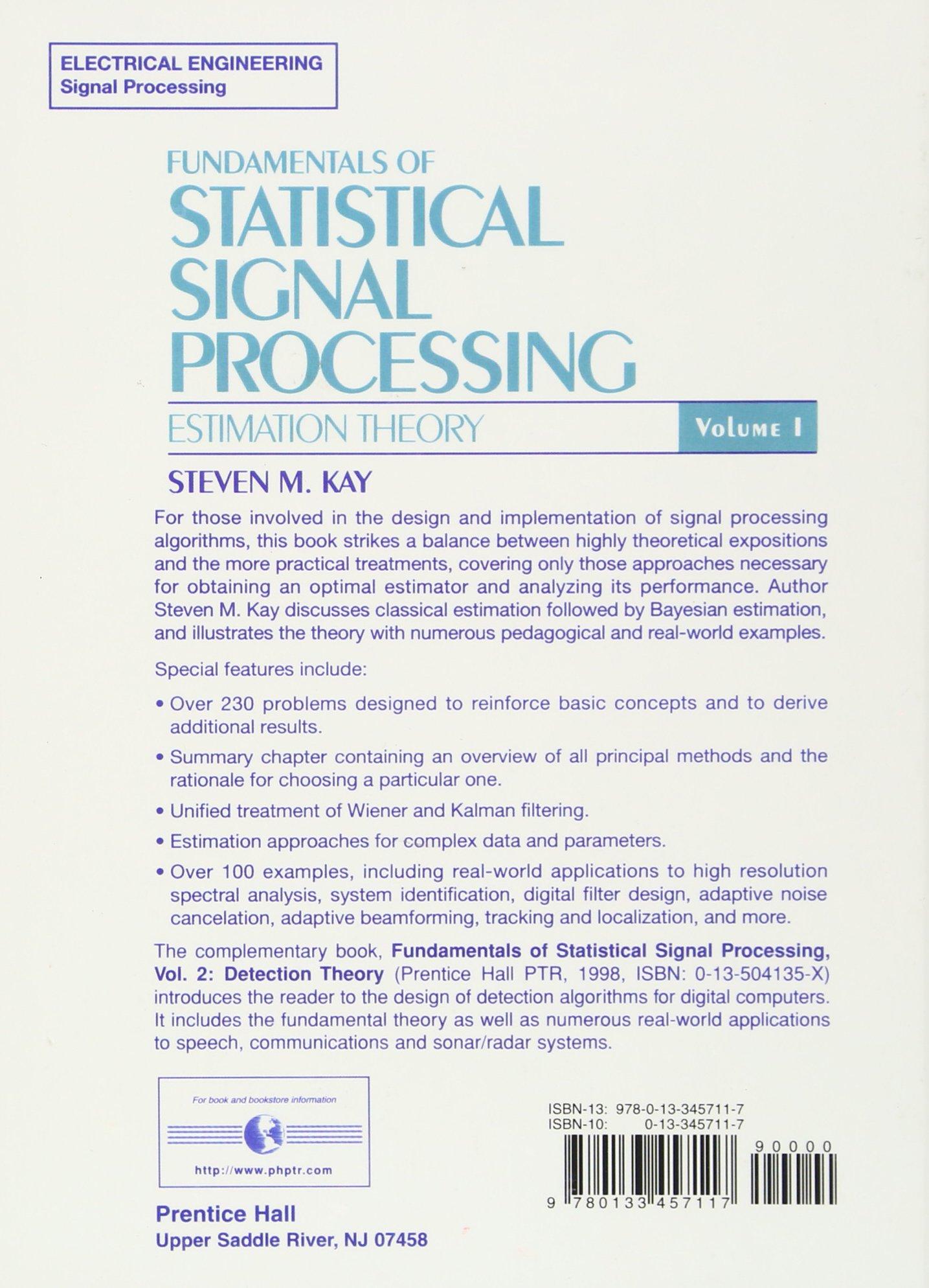 fundamentals of statistical processing volume i estimation theory rh amazon co uk Estimation Theory Problem Solved Statistical Estimation Theory