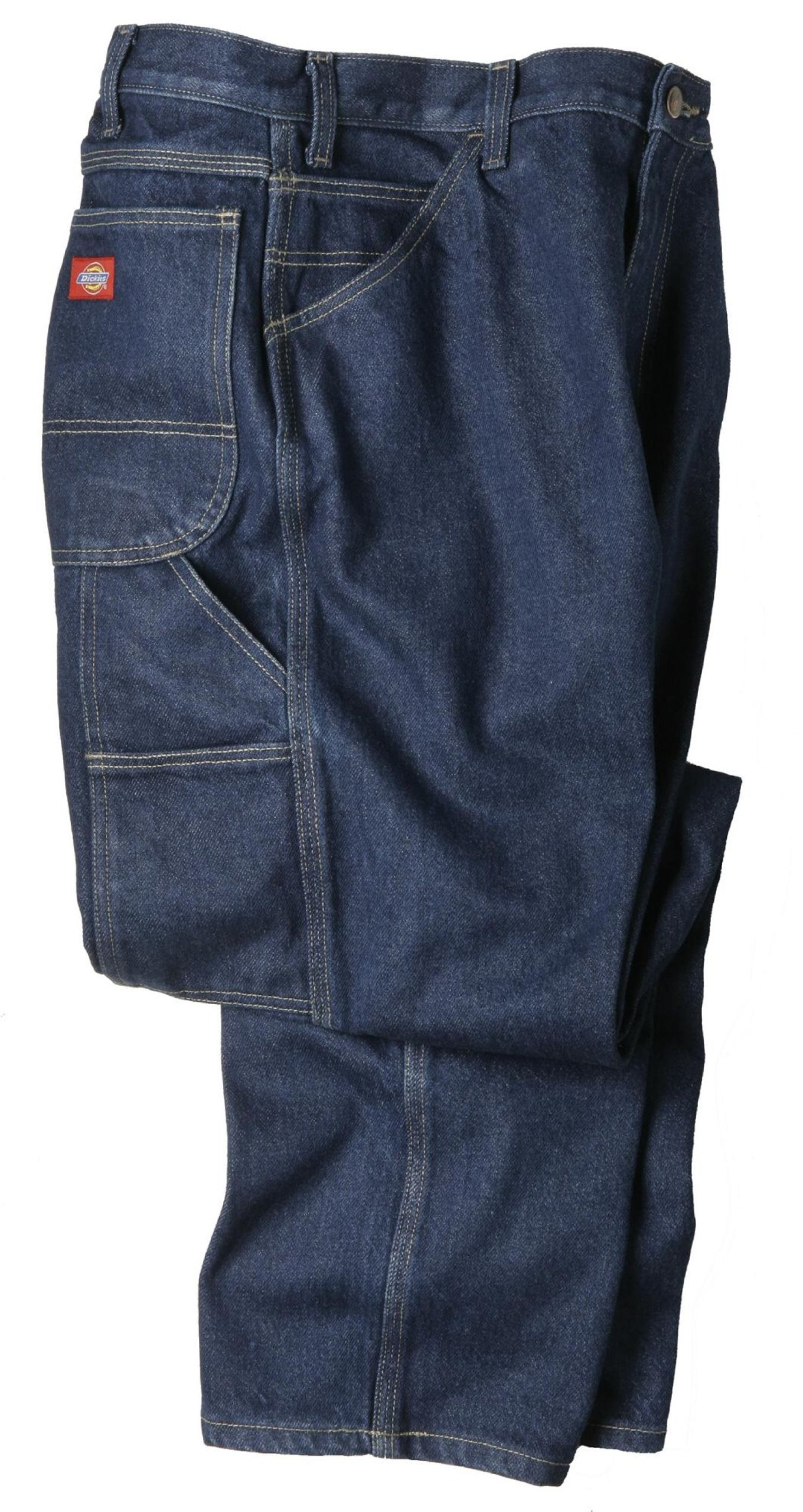 Dickies Occupational Workwear LU200RNB5030 LU200 Industrial Carpenter Denim Jean, Fabric, 50'' x 30'', Rinsed Indigo Blue