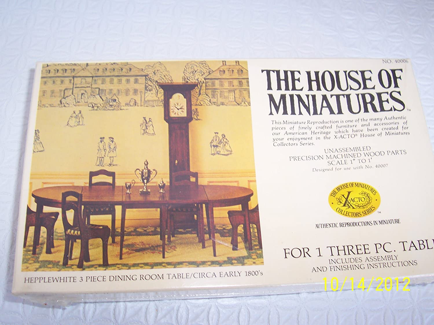 amazon com the house of miniatures wood assembly kit