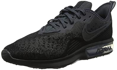 d57595bd5c Nike Men's Air Max Sequent 4 Black Running Shoes (AO4485-002): Buy ...