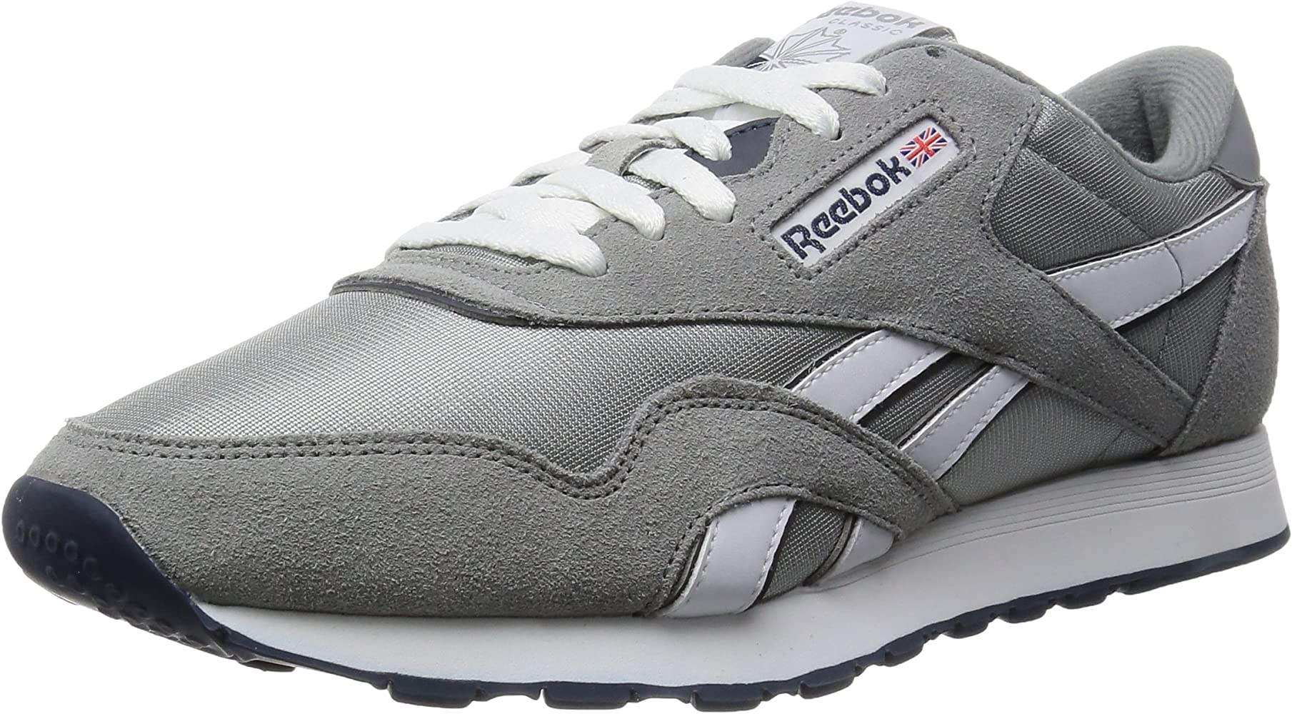 Reebok CL Nylon Zapatillas de running, Niños, Grigio (Grau (Platinum/Jet Blue)), 35: Reebok: Amazon.es: Zapatos y complementos
