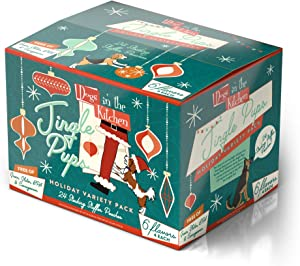 Weruva Dogs in The Kitchen, Jingle Pups Holiday Dog Food Variety Pack 2.8oz Pouch (Pack of 24)