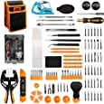 Jakemy Screwdriver Set, 99 in 1 Repair Tool kit, 56 Magnetic Precision Driver Bits, Pocket Tool Bag for iPhone, Android Cellphone, PC, Macbook, Tablet