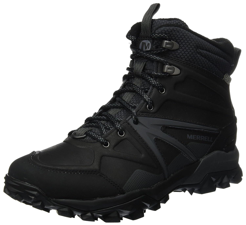 Merrell Herren Capra Glacial Ice+ Mid Waterproof Trekking- Wanderstiefel, Schwarz  44 EU|Schwarz (Black)