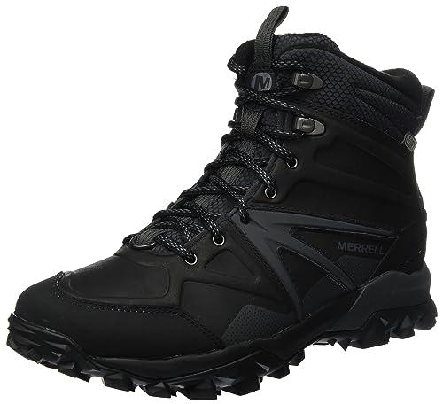 Merrell Capra Glacial Ice+ Mid Waterproof, Stivali da Escursionismo Alti  Uomo, Nero (Black