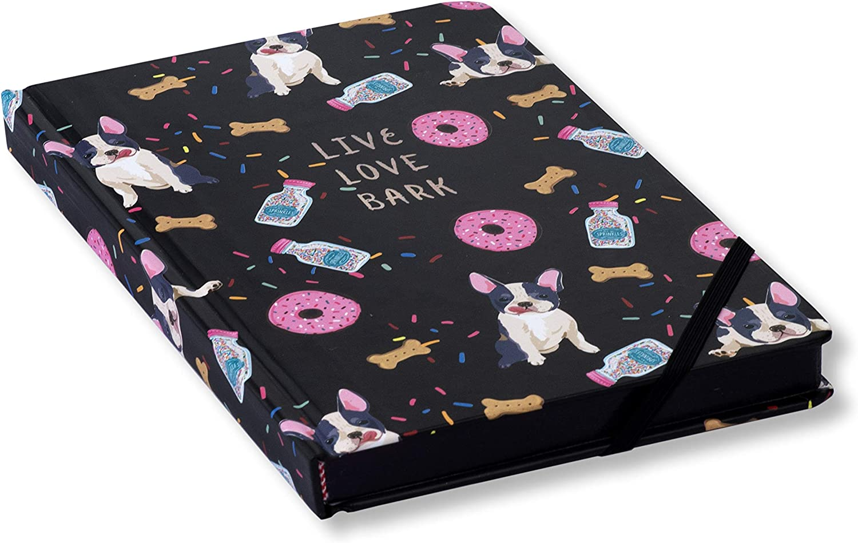 cuaderno con diseño de perritos