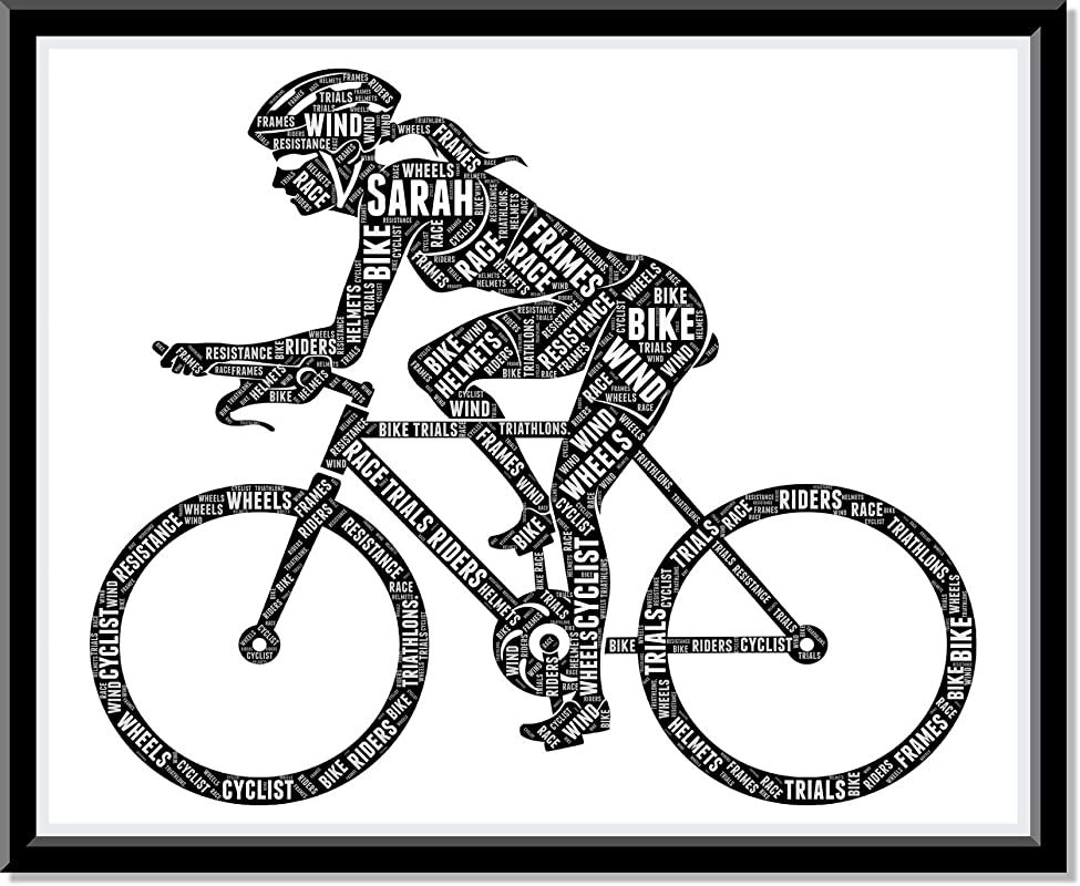 Personalized Gift for Female Cyclist - Gifts for Bicycle Lovers, Print Sports Birthday Gifts For Cycle Rider Wall Prints Art Decor - Great Idea…