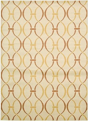 Nourison Nova NOV03 Ivyel Rectangle Area Rug, 5-Feet 3-Inches by 7-Feet 3-Inches 5 3 x 7 3