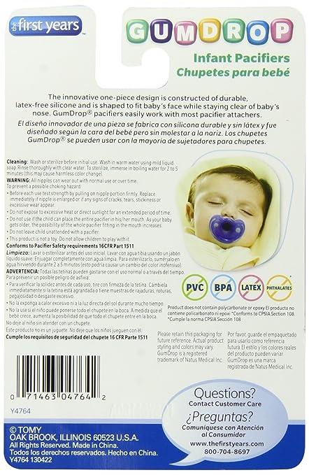 Amazon.com : 2 Paquete de la pastilla de goma infantil Chupete, rosa ...