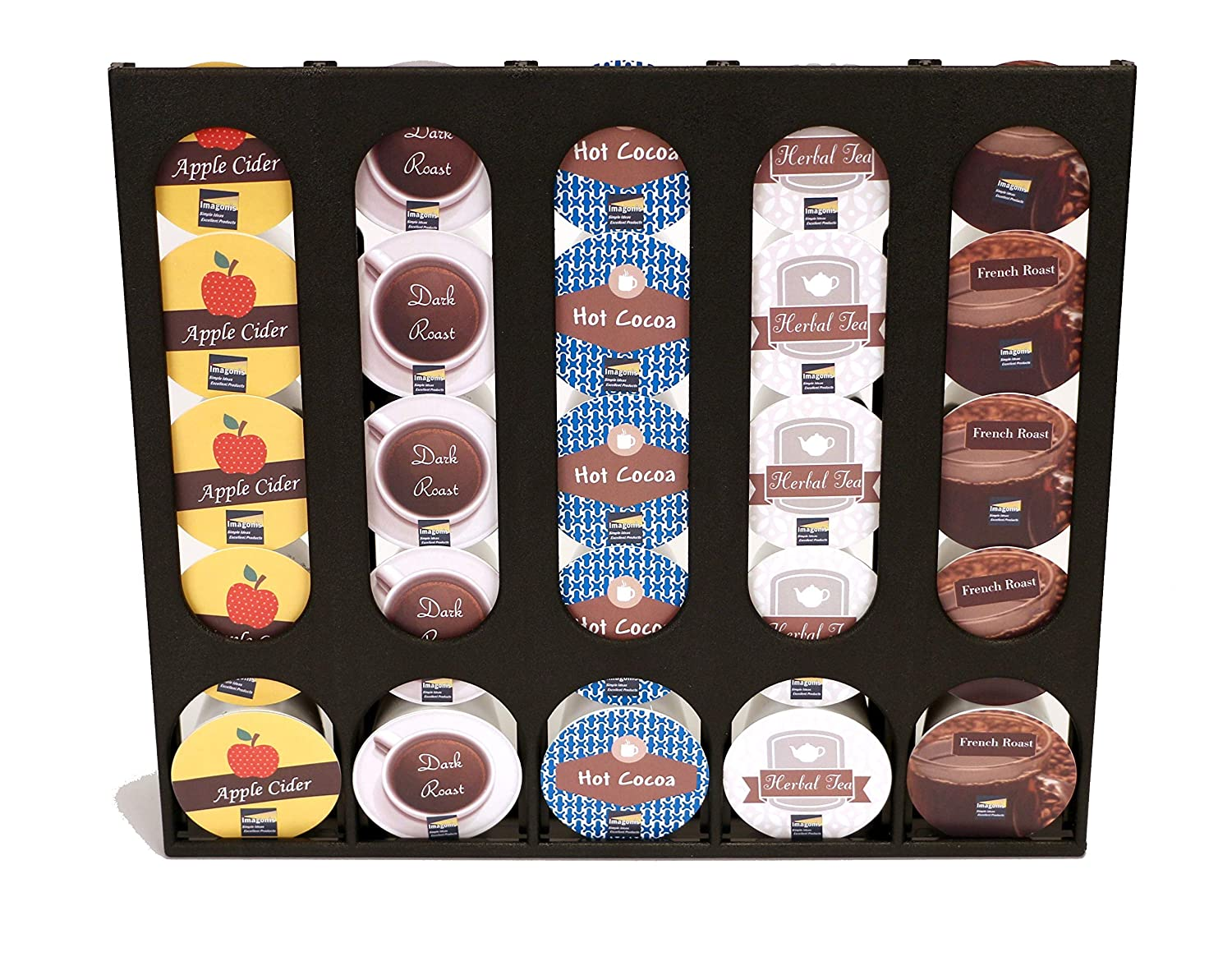 The Cupboard Caddy, Compatible with Keurig K-cups, Premium Storage Dispenser, Holder & Stand (Now with a new and improved magnetic release system)