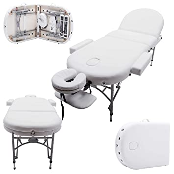 Massage Imperial Professional Lightweight Ivory White Consort Chatworth Aluminium Portable Massage Couch Table 7cm 3