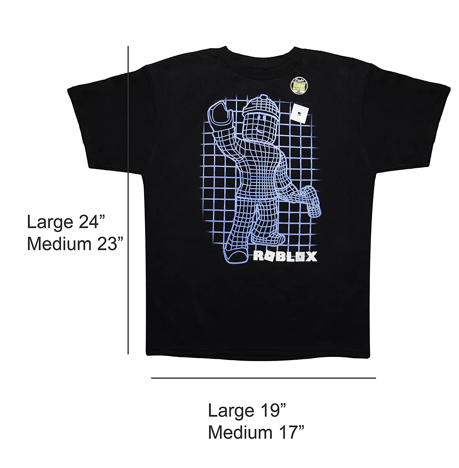 Roblox Game Play With Builderman Character Glow In The Dark For Young Kids Boys And Girls Black Tshirt Tee Medium - mickey plays roblox