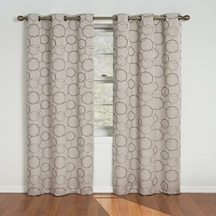 gray and white curtain panels moroccan print eclipse meridian 84inch blackout window curtain panel linen amazoncom panel