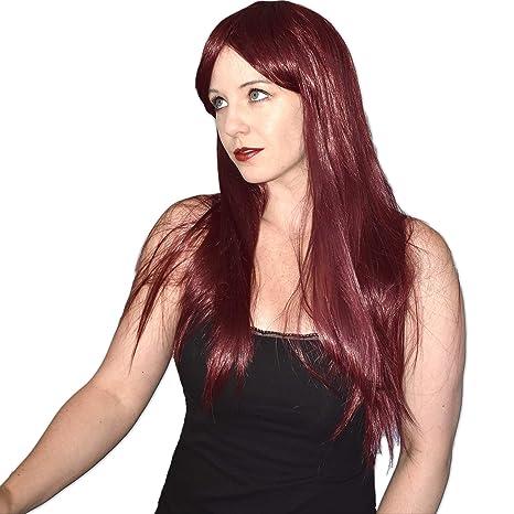 Pelo largo y liso, peluca de 70 cm en colores diferentes