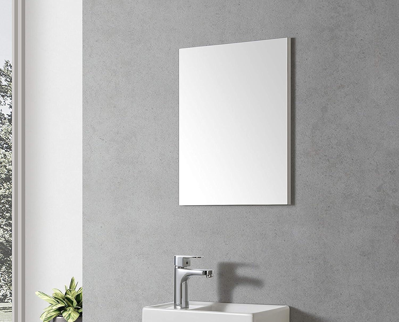 Visito 40 Bathroom Furniture Mirror White Frame