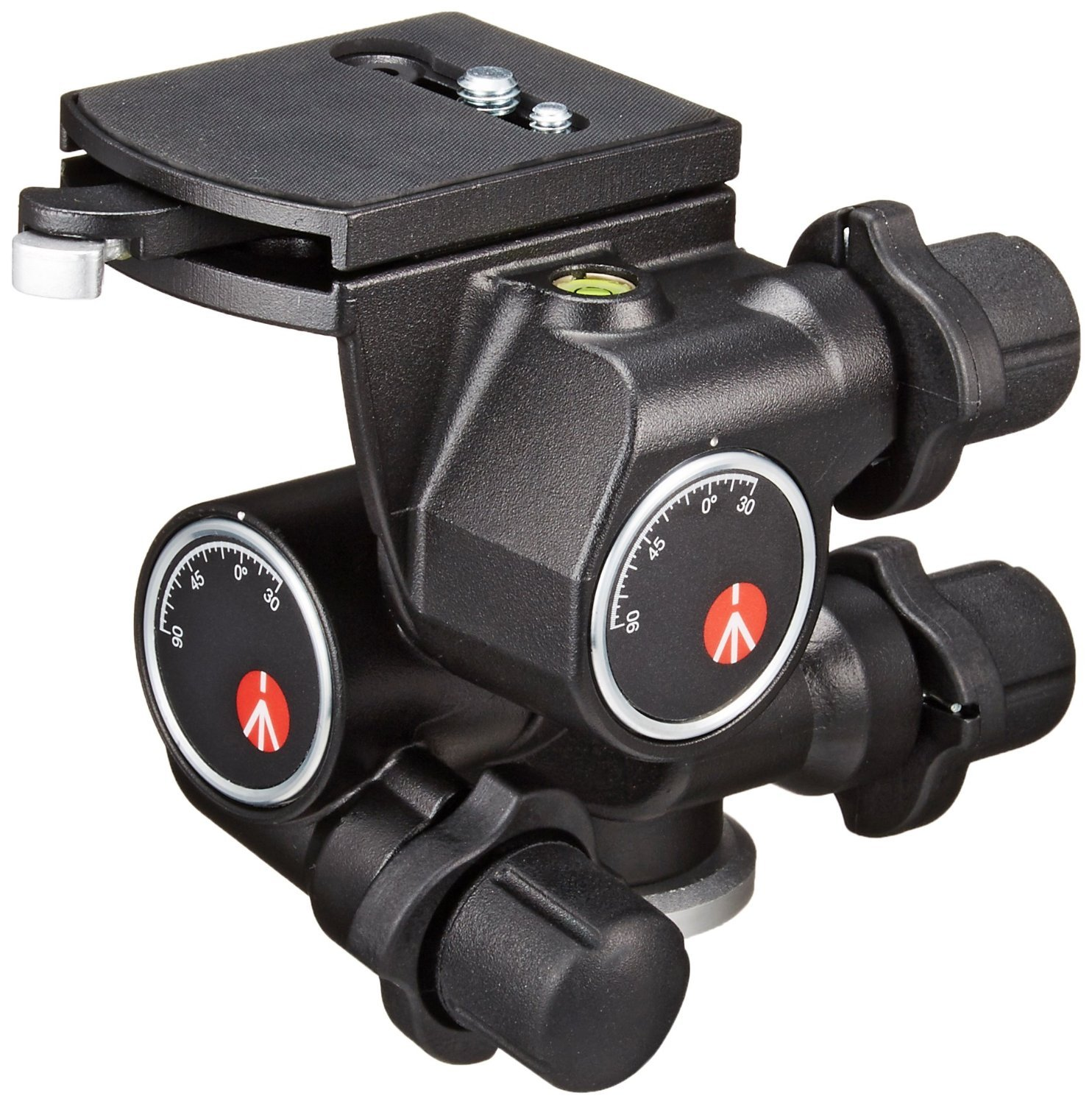 Manfrotto 410 Junior Geared Tripod Head with Quick Release and a ZAYKIR Quick Release Plate by ZAYKIR (Image #2)