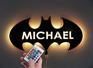 Batman Lamp,Batman Led Light,Batman Night Light,Batman Wall Light,Batman Wall Decor,Batman Sign Light,Dark Knight Rises,Night Lamp