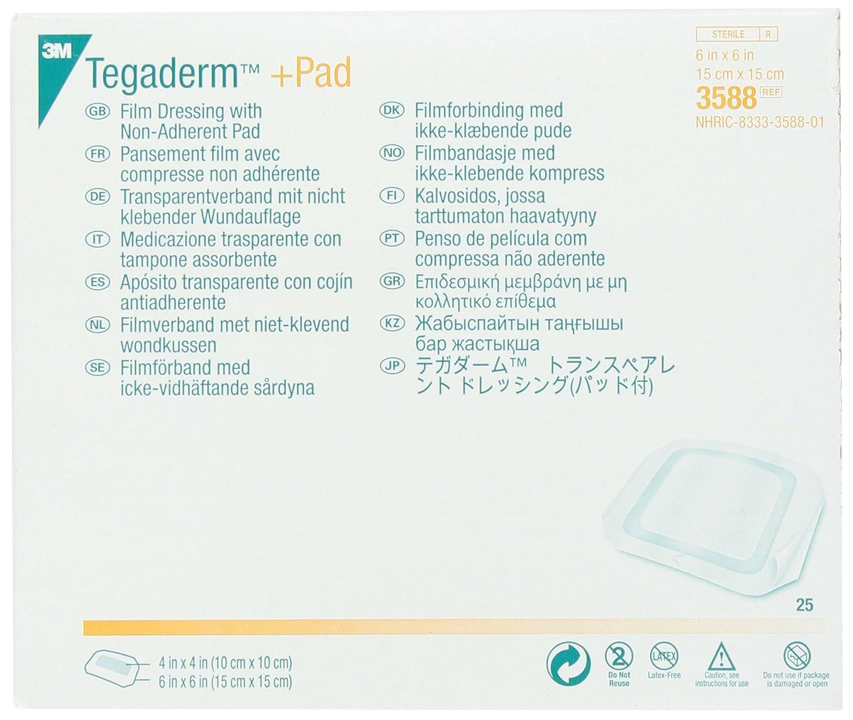 Amazon 3m 3588 Tegaderm Pad Film Dressing With Non Adherent
