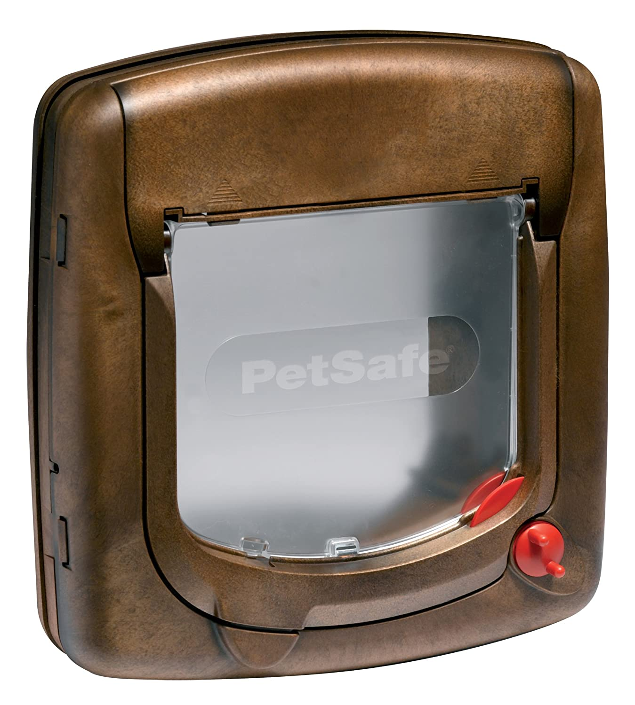PetSafe - Chatière Deluxe Staywell pour Chat avec Système de Verrouillage à 4 positions, poids 7 kg max., Extension de Tunnel (incluse) - Gris 340SGIFD