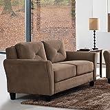 Pearington Merango Microfiber Living Room Loveseat Sofa Chair, Brown