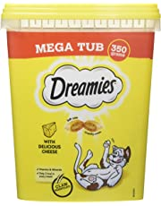 Dreamies Cat Treats with Cheese Mega Tub, 350 g (Pack of 2)