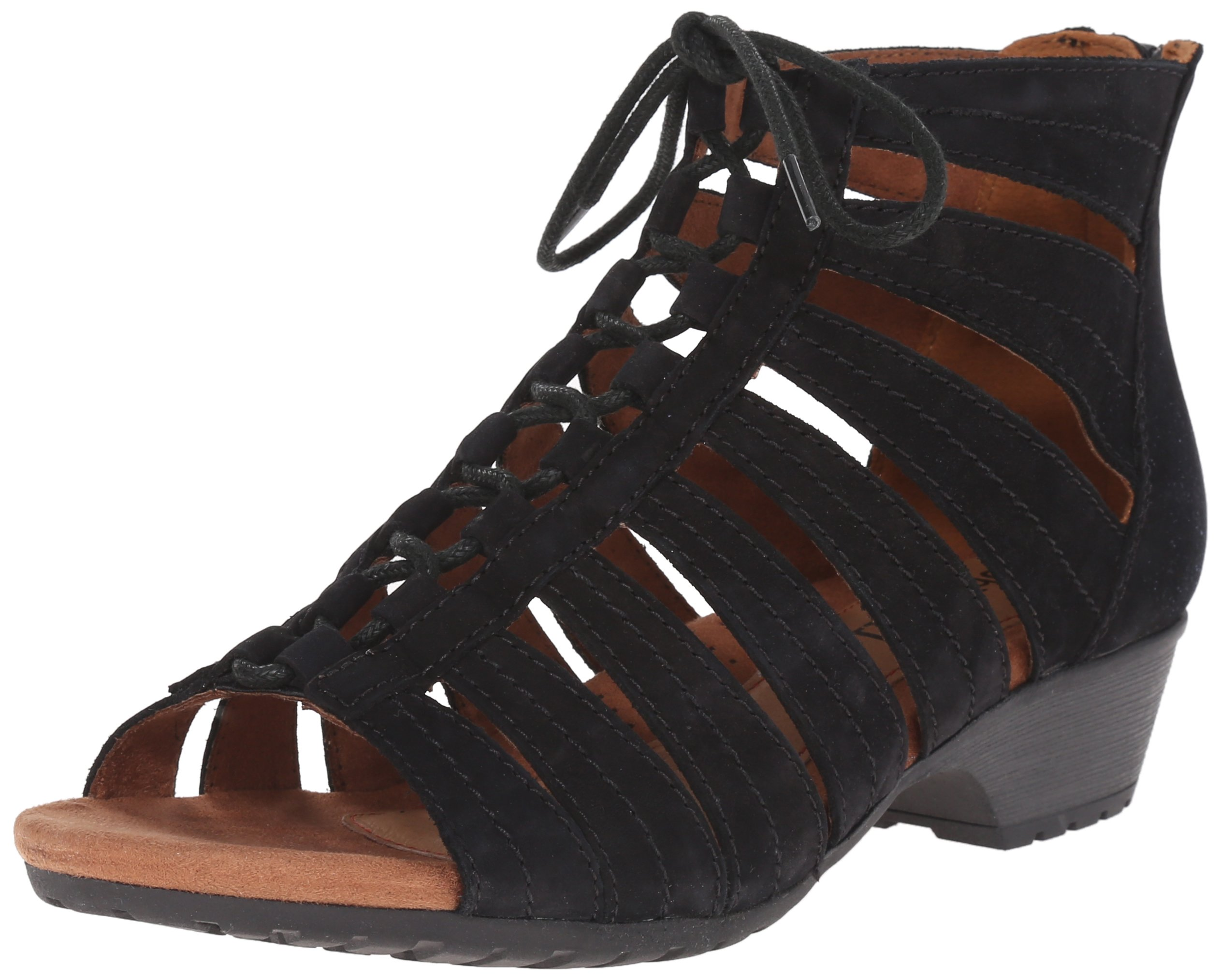 Cobb Hill Rockport Women's Gabby-CH Heeled Sandal, Black, 6.5 M US