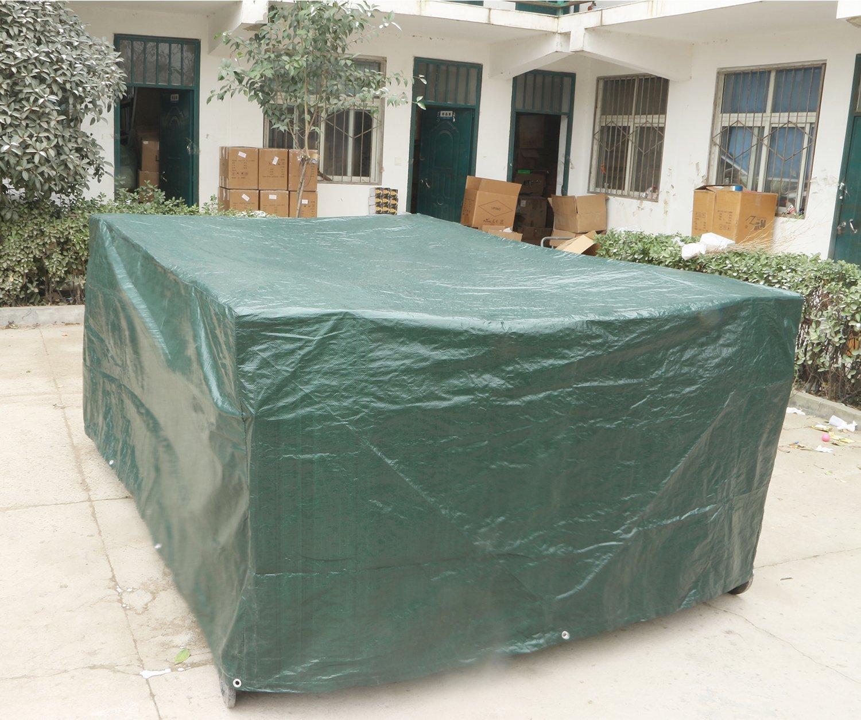 Cubierta Protectora Exterior Impermeable Uping Funda Protectora para Muebles de Jard/ín 110CM 200 Rectangular 300