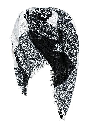96afb48e465804 Damen Schal XXL Oversized Herbstschal Winterschal Deckenschal lang weich  warm Poncho