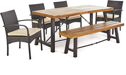 Christopher Knight Home Betsys Outdoor Acacia Wood Dining Set
