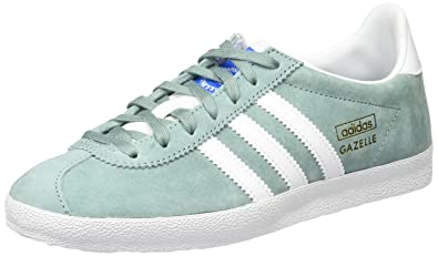 Adidas Gazelle OG Basket Mode Femme , Vert (Legend Green/Footwear White/Legend