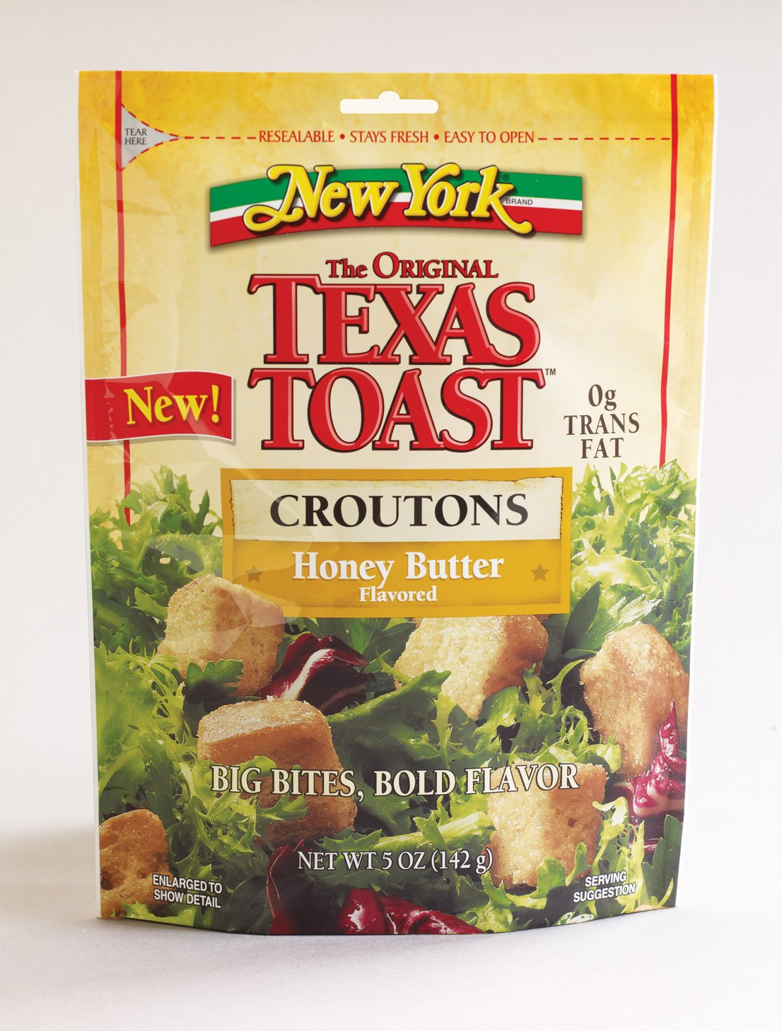 New York Texas Toast Honey Butter Croutons, 5-Ounce Bags (Pack of 12)