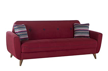 ISTIKBAL Multifunctional Furniture NORA Collection Marsala Red SOFA SLEEPER