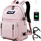 HASAGEI Mochila Escolares Juveniles para 15.6'' Portátil Mochila Unisex de Carga USB Backpack Resistente Al Agua…