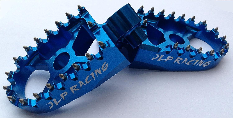 Fuß stü tze Cale Fü ß e blau eloxiertes Aluminium, Breite Typ Pro JLP Racing YAMAHA 85 125 150 250 350 400 426 450 YZ YZF WR WRF 1999 2018 JLP Racing