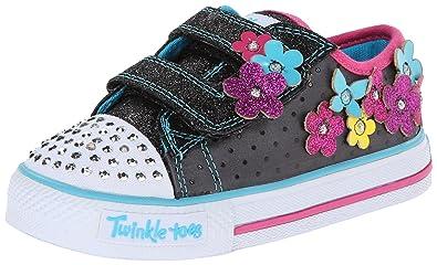 promo code e9ebb 1c4ef Skechers Shuffles Pretty Blossoms, Baskets mode fille - Noir(Black BMLT) -  26