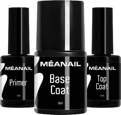 Primer Base Top Coat Permanente Uñas Gel UV LED Manicura Pedicura Ideal para Lampara Secador de Uñas Esmalte Semipermanente Polygel Gel de Construccion: Amazon.es: Belleza