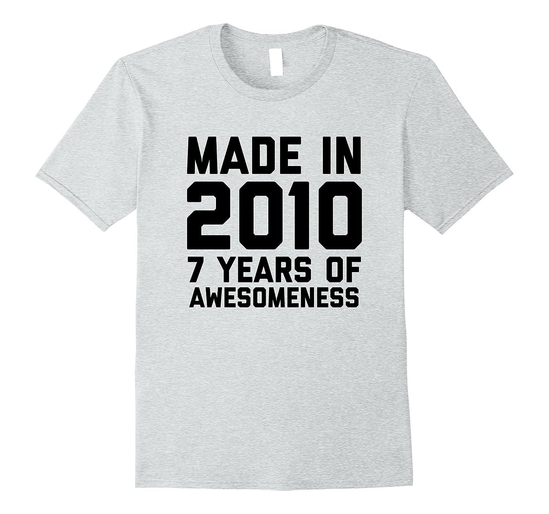 7th Birthday Shirt Gift Age 7 Year Old Boy Girl Tshirt Tee FL