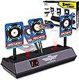 M&J Electronic Digital Target for Nerf Guns N-Strike Elite/Mega/Rival Series - Auto-Reset Intelligent Light Sound Effect Scoring Targets Toys for Boys and Girls
