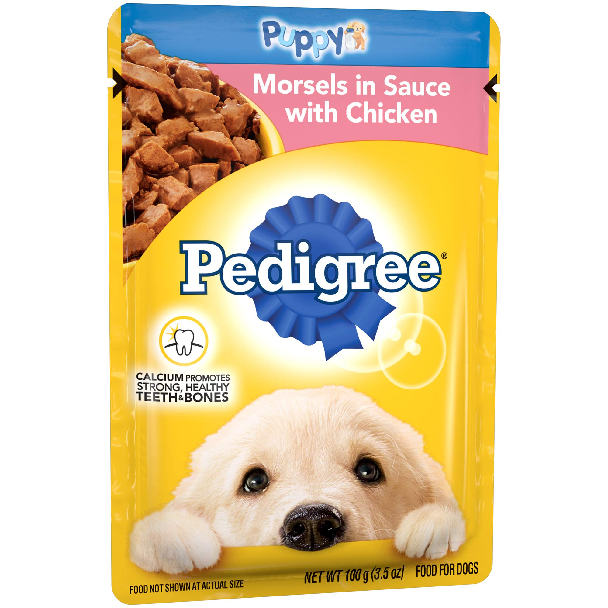 Pedigree Choice Cuts Puppy Morsels In Sauce With Chicken Wet Dog Food, (16) 3.5 Oz. Pouches by Pedigree