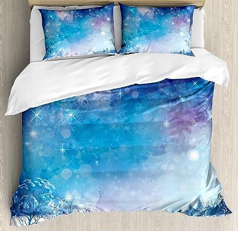 QUEEN Duvet Comforter Cover /& 2 Shams Set Sky Azteca Collection FULL
