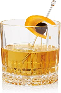 Spiegelau Perfect Serve Single Old Fashioned, Set of 4 Lowball European-Made Lead-Free Crystal, Dishwasher Safe, Professional Quality Cocktail Glass Gift Set, 9.5 oz