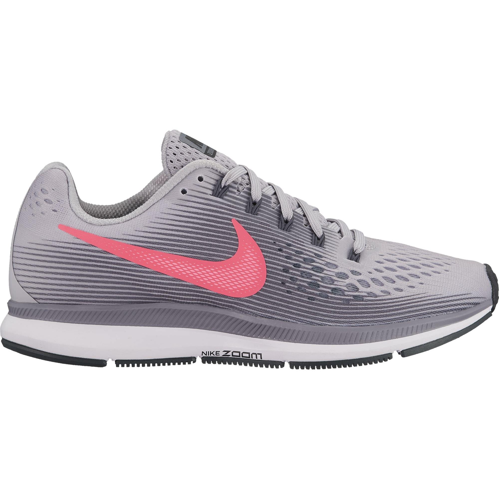 Nike Women's Air Zoom Pegasus 34 Running Shoes (10.5 B US, Atmosphere Grey/Racer Pink/Gunsmoke)