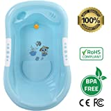 Best Baby Bath Tub made of Eco-Friendly BPA-free Food Grade Material, Body Engineered with Anti Slip Surface and Comfortable Back Support, Safe for Boys & Girls!