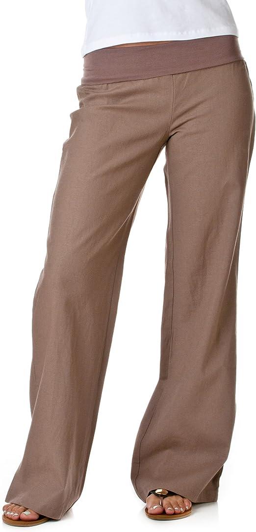 Women/'s Fold Over Khaki Yoga Pant/'s Size S,M,L