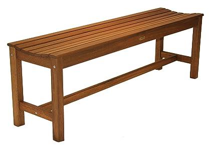 Miraculous Outdoor Interiors 60404 3 Person Backless Eucalyptus Bench Alphanode Cool Chair Designs And Ideas Alphanodeonline