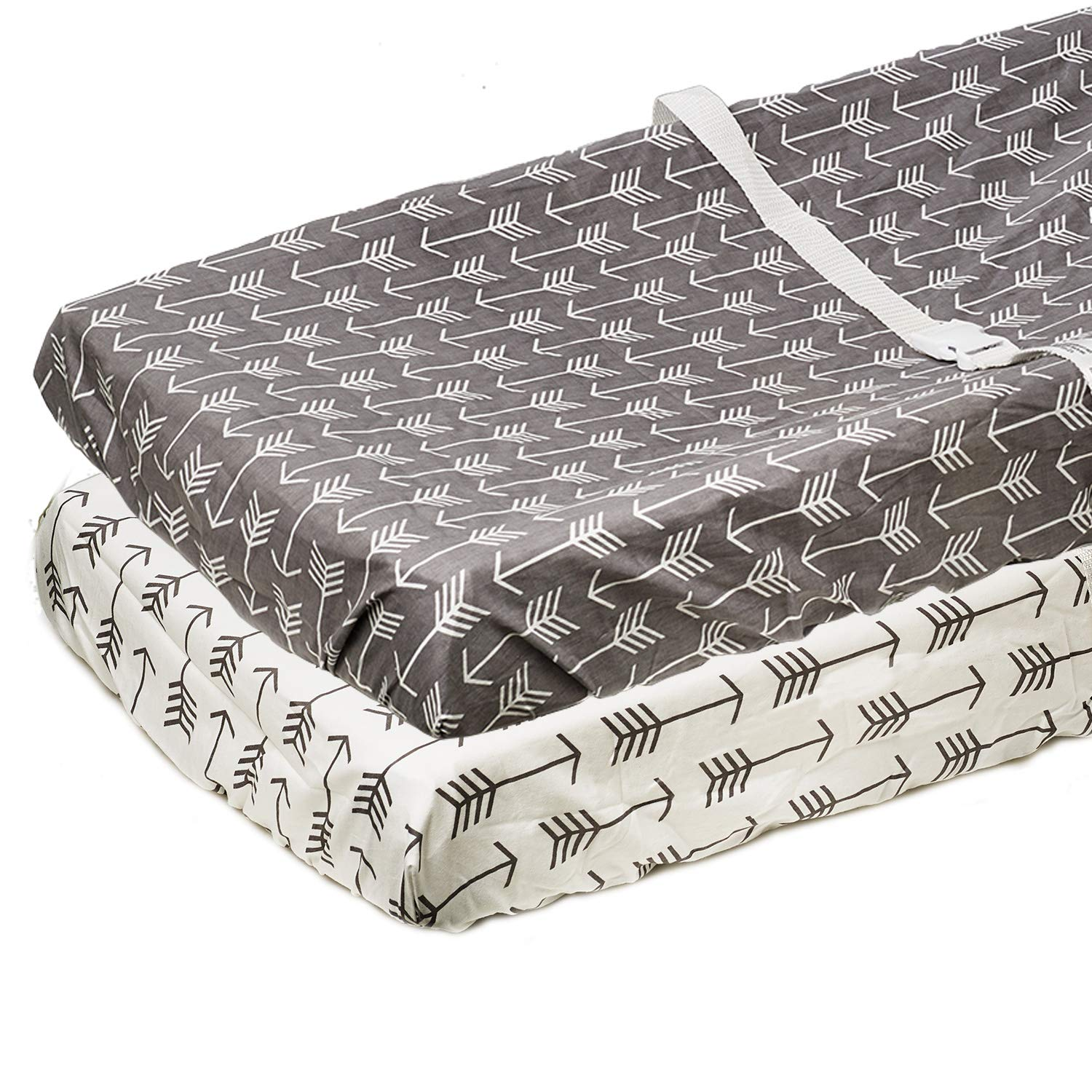 Org Store Premium Arrows Design Changing Pad Cover Set   100% Cotton Changing Table Pad Cover 2-Pack by Org Store