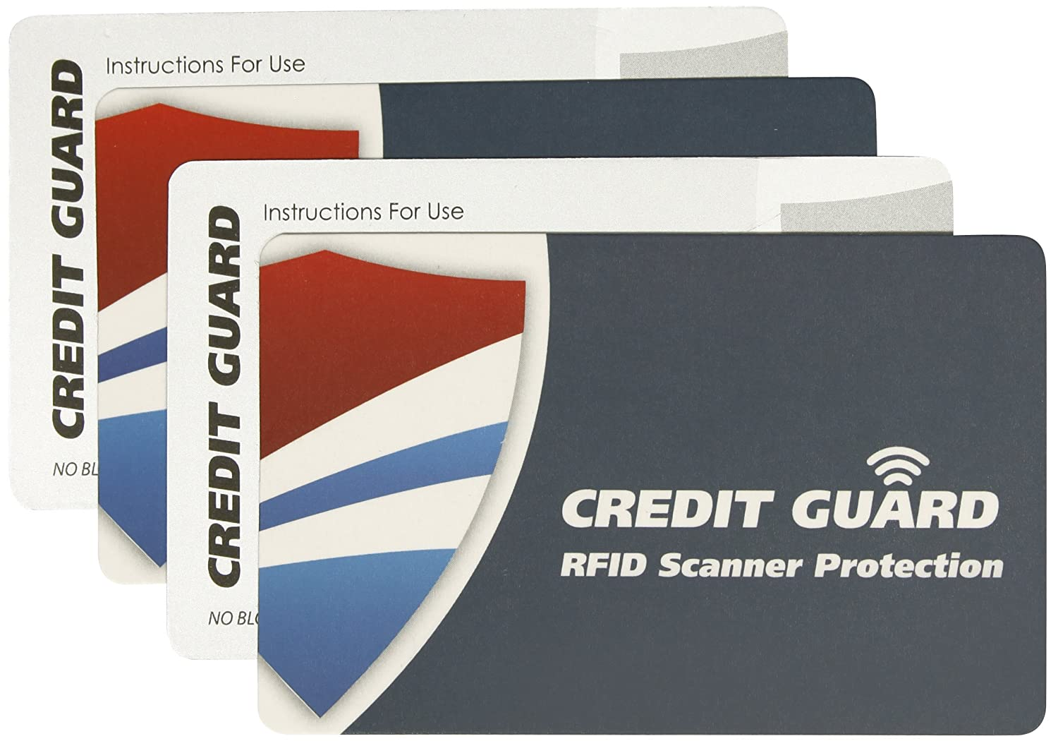 Set of 4 Credit Guard RFID Scanner Blocking Cards