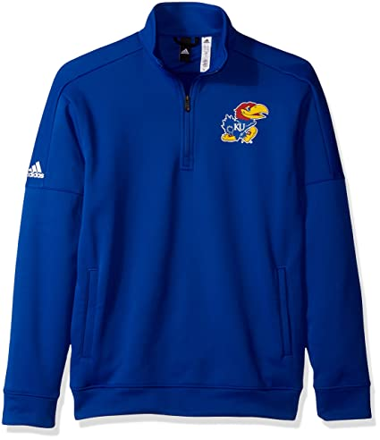 factory authentic 62964 82f4b adidas NCAA Kansas Jayhawks Mens Lc Logo Team Issue Fleece 1 4 Zip  Pulloverlc Logo