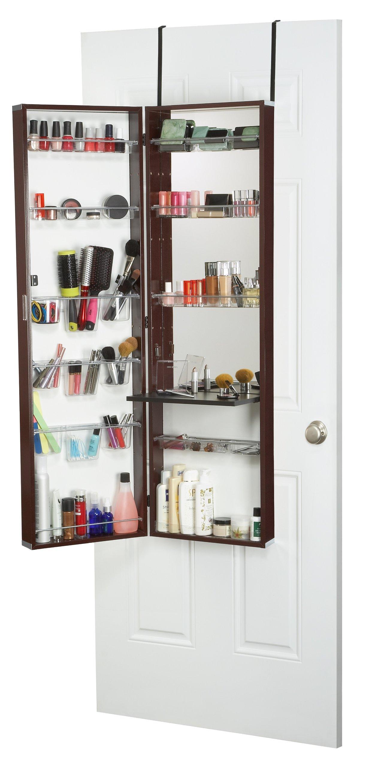 Mirrotek Over The Door Beauty Armoire and Makeup Organizer by Mirrotek
