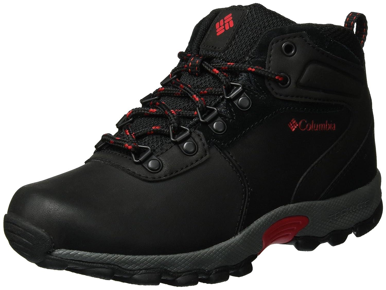 Columbia Jungen Youth Newton Ridge Trekking-& Wanderhalbschuhe, schwarz Mountain rot
